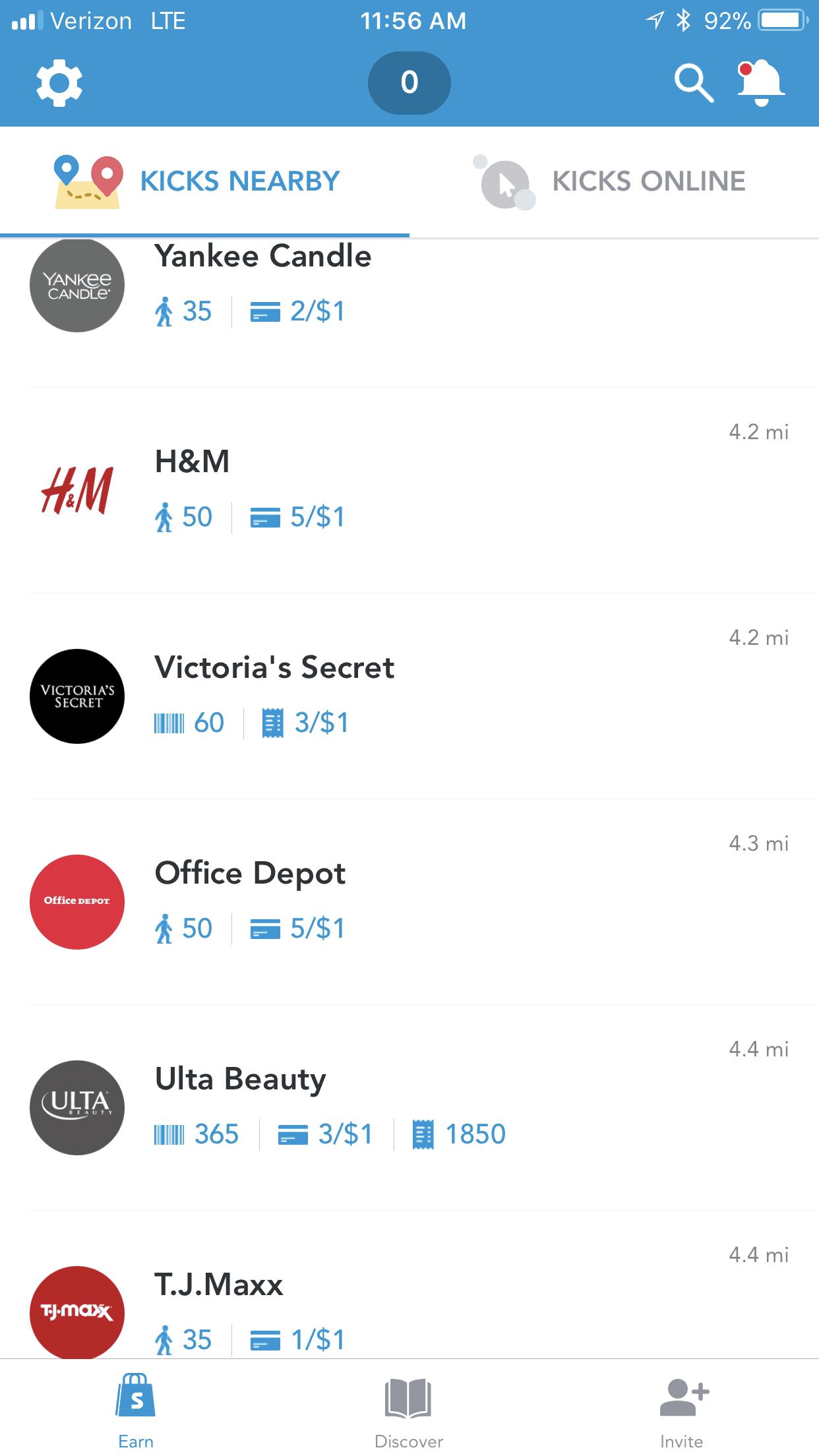 shopkick current stores