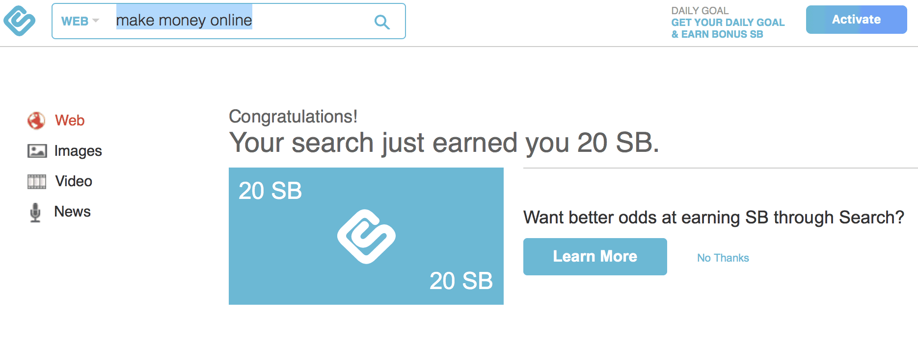 swagbucks search rewards
