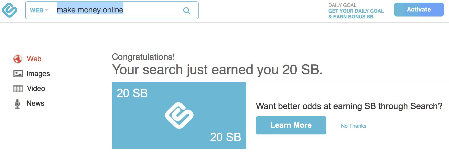 swagbucks search rewards
