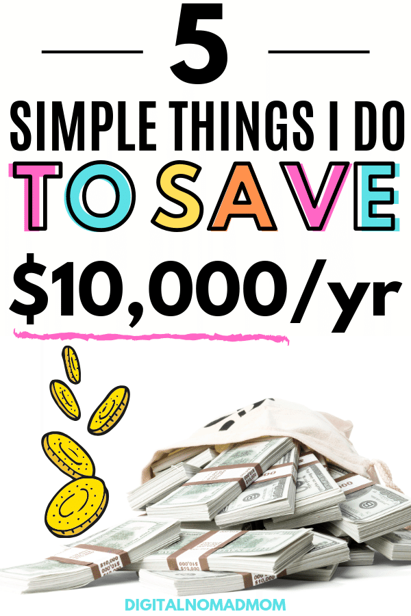 5 Genius Money Saving Tips I Used to Save $10,000 A Year #moneysavingtips #savemoney #moneysaving #moneysavingideas