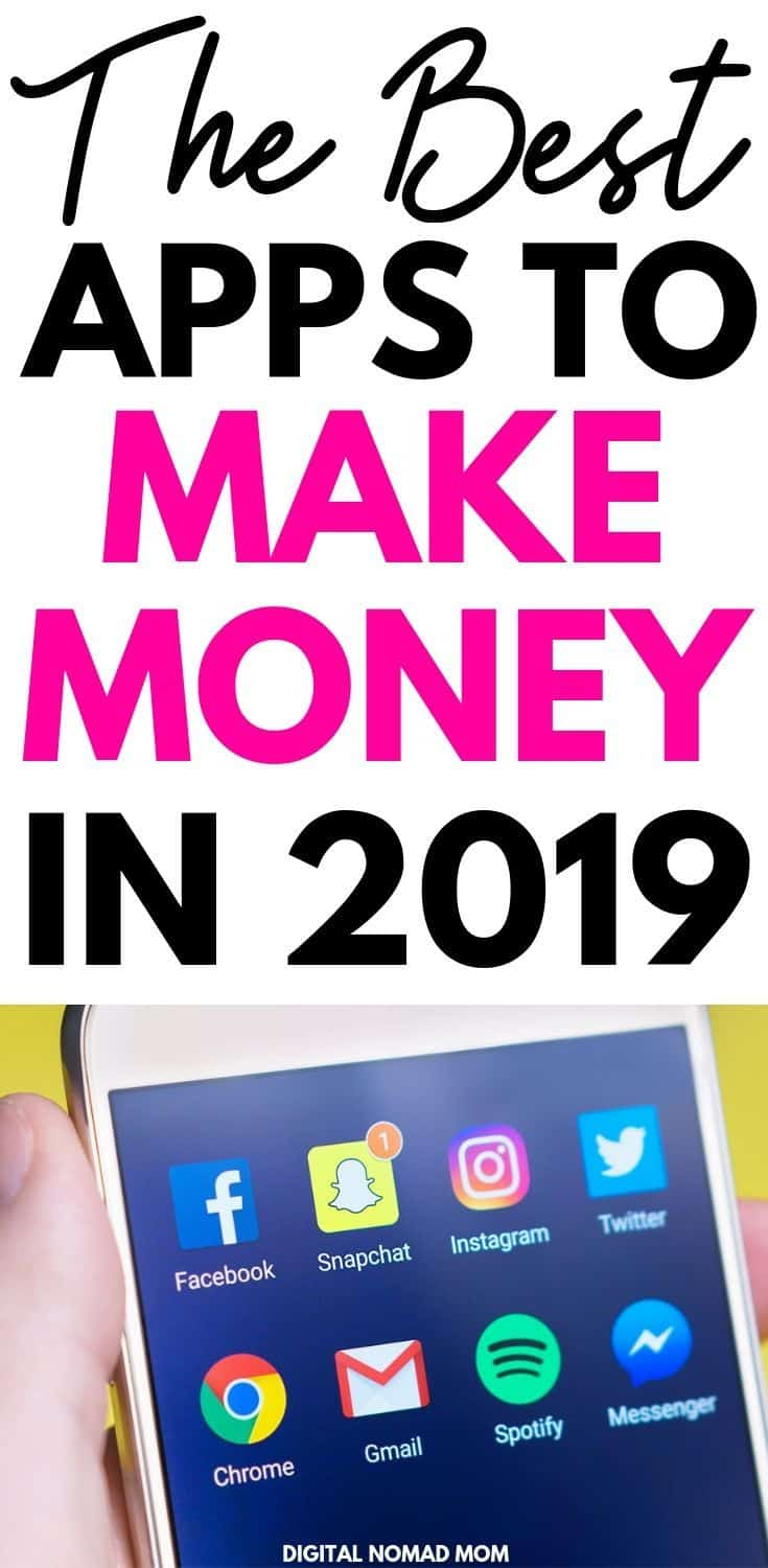 The Best Apps to Make Money in 2019 (I've Made Over $2000 from ONE of these smartphone apps!) #makemoneyonline #bestappstomakemoney #moneymakingapps