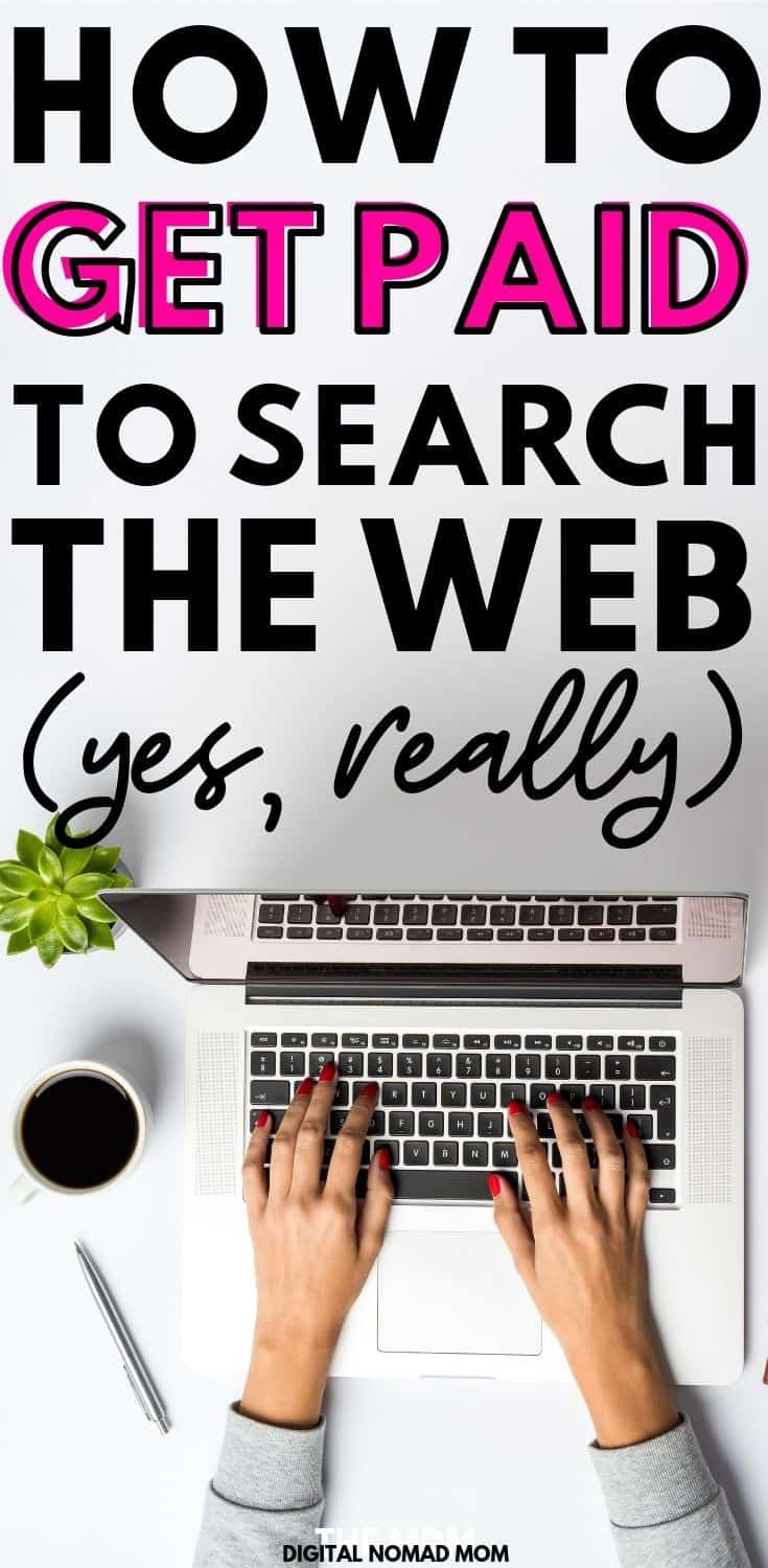 How to get paid to search the web (yes, really) #makemoneyonline