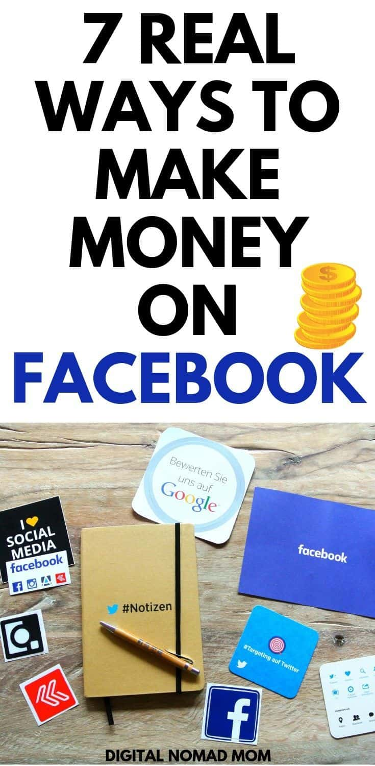 How to Make Money on Facebook - 7 Real Ways to Make Money Online Using Facebook #makemoneyonline #makemoneyfromfacebook #moneymakingtips #moneymakingideas