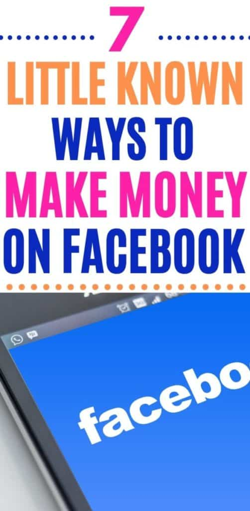 How to Make Money On Facebook - Looking for ways to make money online? Maybe the perfect side hustle? Did you know there are several ways to make money on Facebook that you might not have heard of? Click through to read what they are!