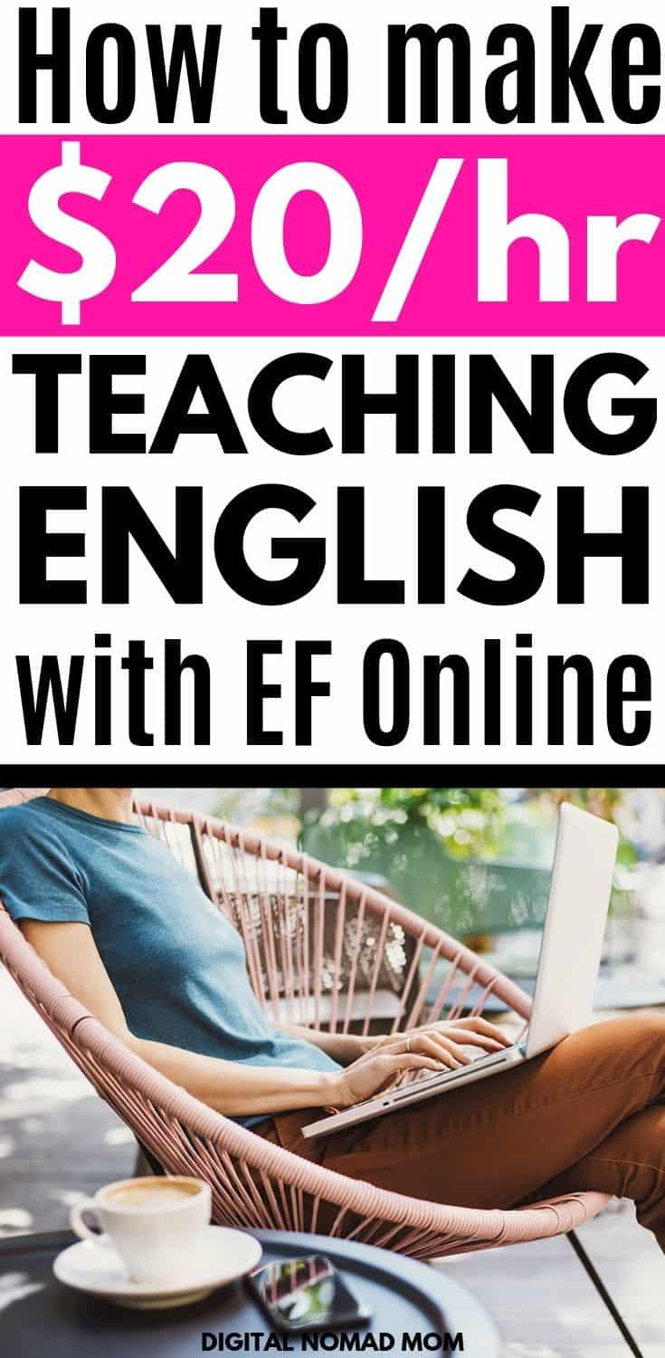 EF Online Review - How to Make Money Teaching English Online #onlineenglishteaching #makemoneyonline #workathomejobsformoms