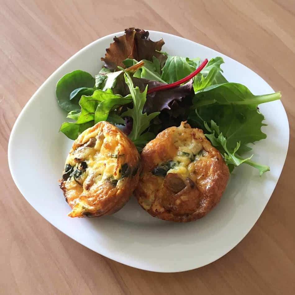 Crustless Spinach Mini Quiche