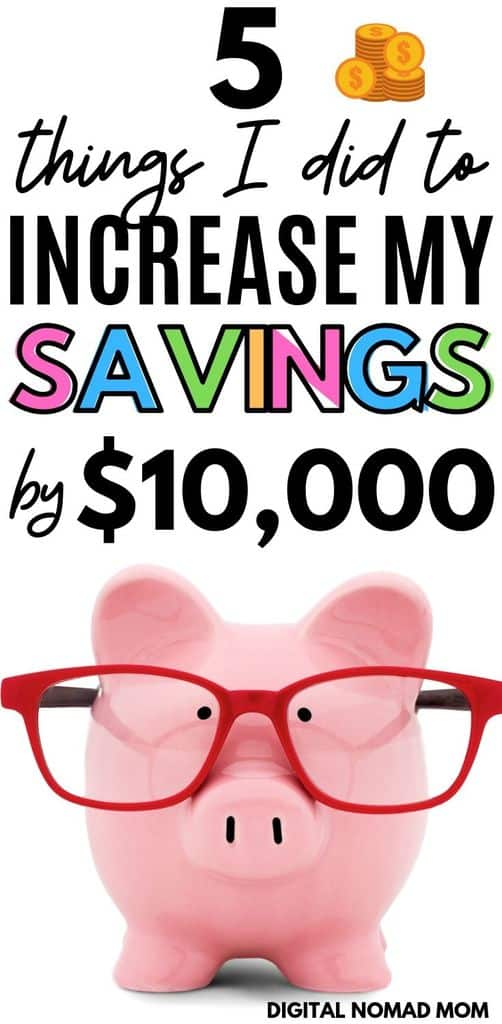 Money Saving Tips - 5 Simple Things I Did to Increase My Savings By $10,000 #moneysavingtips #savemoney #howtosavemoney
