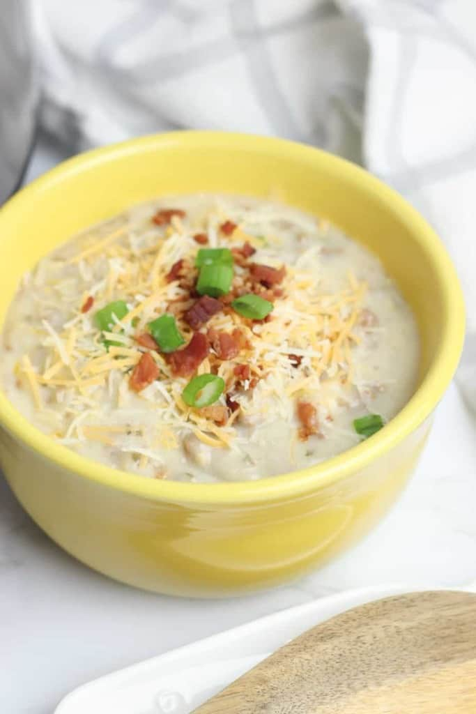 Instant Pot Cheeseburger Soup - Keto Approved