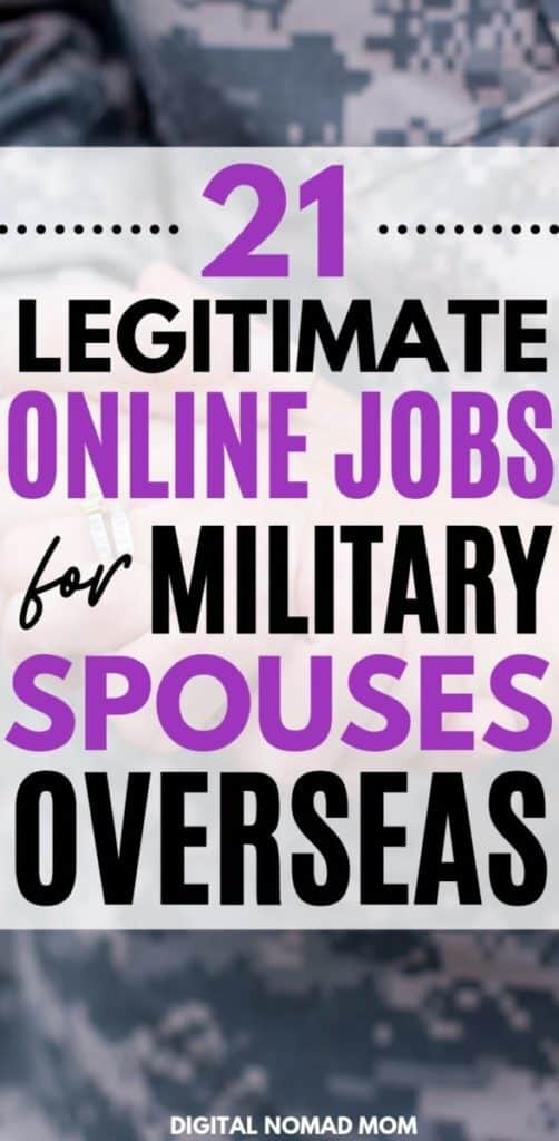 21 Legitimate Online Jobs for Military Spouses Overseas