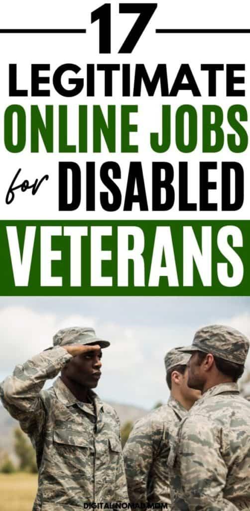 17 Legitimate Online Jobs for Disabled Veterans
