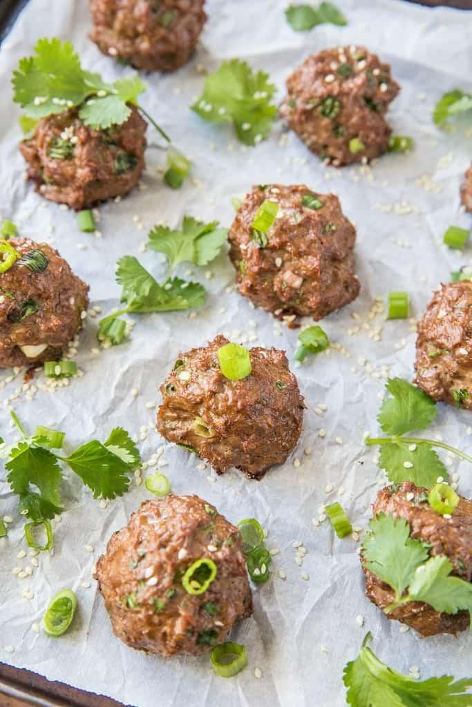 Keto Thai Meatballs