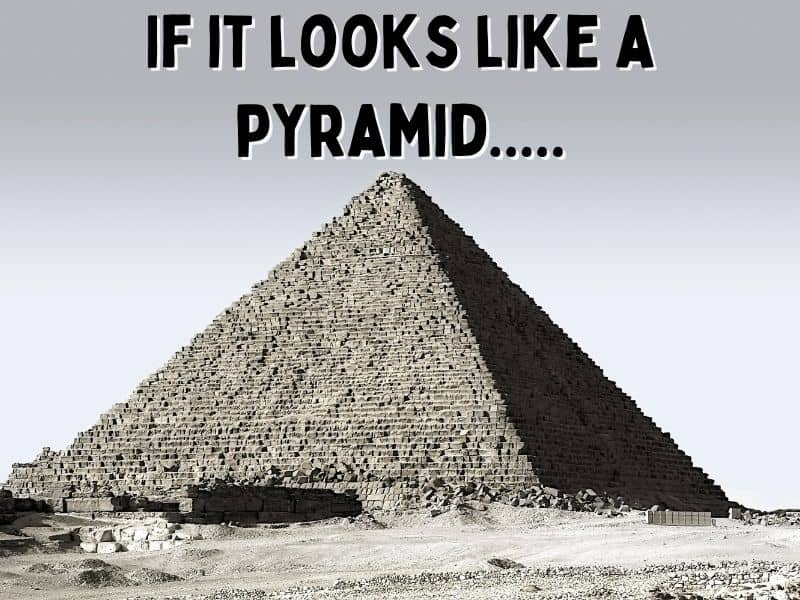 photo of a pyramid with text overlay